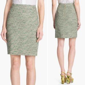 Kate Spade Tweed Pencil Skirt Judy The Rules Green